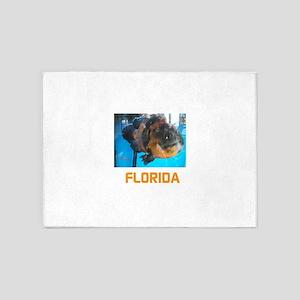 FLORIDA AVINS FISH. 5'x7'Area Rug