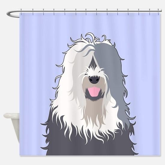 Old English Sheepdog Shower Curtain