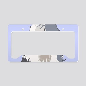 Old English Sheepdog License Plate Holder