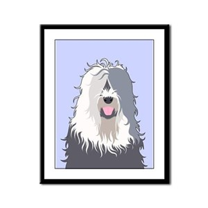 Old English Sheepdog Framed Panel Print