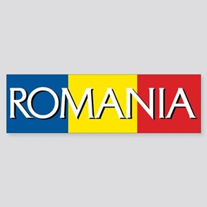 Romania Flag Bumper Sticker