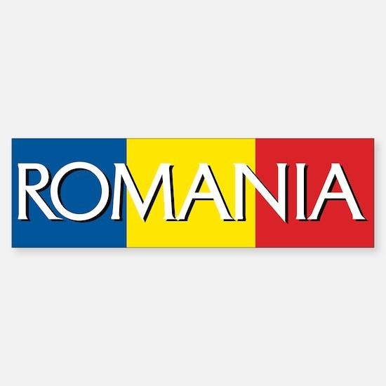 Romania Flag Bumper Bumper Bumper Sticker