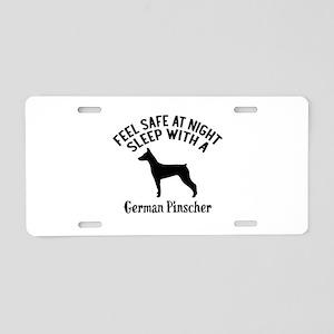 Sleep With German Pinscher Aluminum License Plate
