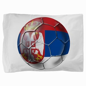 Serbian Football Pillow Sham