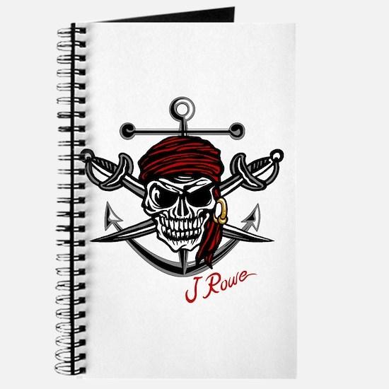 J Rowe Skull Crossed Swords Journal
