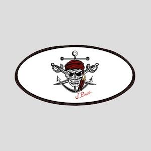 J Rowe Skull Crossed Swords Patch