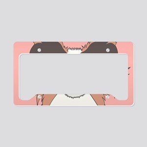 Papillon License Plate Holder