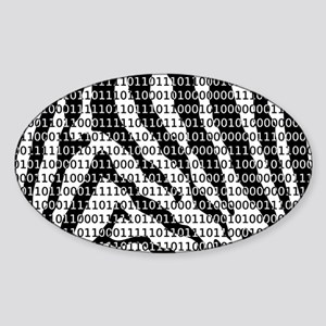 Zebra Binary Code Sticker