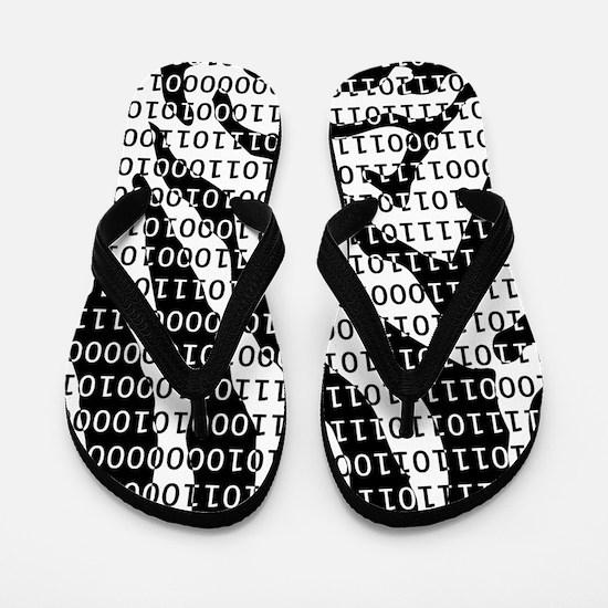 Zebra Binary Code Flip Flops