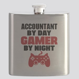 ACCOUNTANT BY DAY GAMER BY NIGHT Flask
