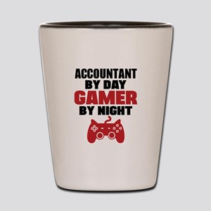 ACCOUNTANT BY DAY GAMER BY NIGHT Shot Glass