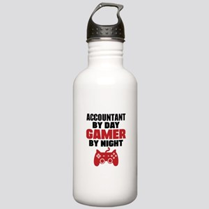 ACCOUNTANT BY DAY GAMER BY NIGHT Sports Water Bott