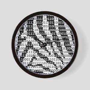 Black and White Zebra Binary Code Wall Clock