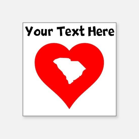 South Carolina Heart Cutout Sticker