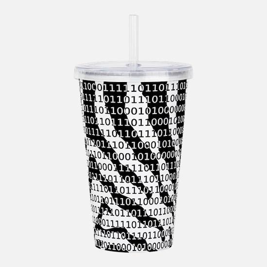 Black and White Zebra Acrylic Double-wall Tumbler