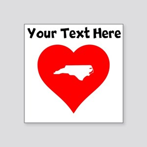 North Carolina Heart Cutout Sticker