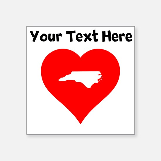 North Carolina Heart Cutout Sticker