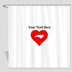 North Carolina Heart Cutout Shower Curtain
