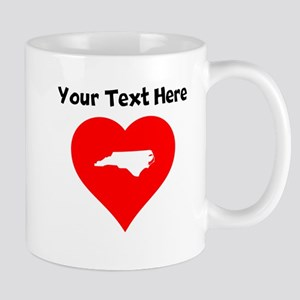 North Carolina Heart Cutout Mugs