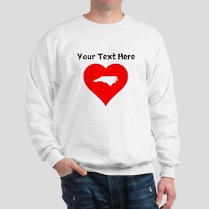 North Carolina Heart Cutout Sweatshirt