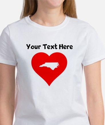 North Carolina Heart Cutout T-Shirt