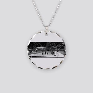 The Maze Necklace Circle Charm