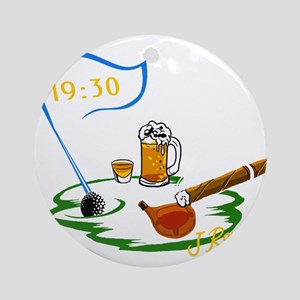 J Rowe Beer:30 Meets The 19th Hole Round Ornament