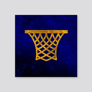 "Basketball Hoop Square Sticker 3"" x 3"""