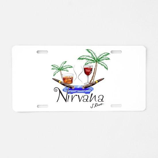 J Rowe Nirvana Cigars Aluminum License Plate