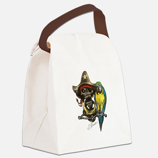 J Rowe Pirate & Parrot Canvas Lunch Bag