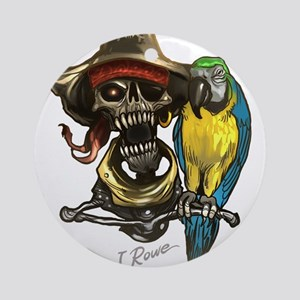 J Rowe Pirate & Parrot Round Ornament