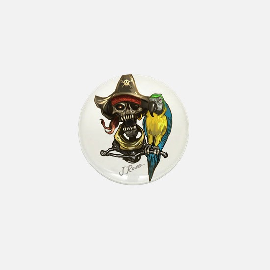 J Rowe Pirate & Parrot Mini Button