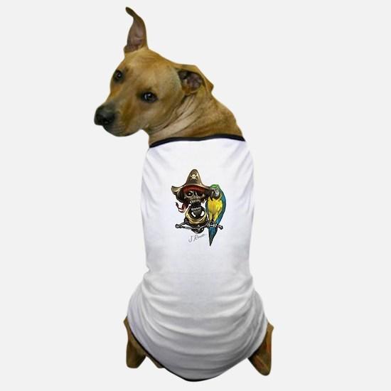 J Rowe Pirate & Parrot Dog T-Shirt
