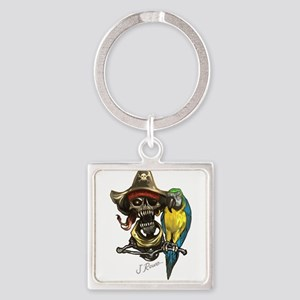 J Rowe Pirate & Parrot Keychains