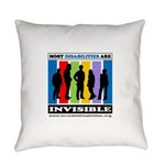 Most Disabilities Are Invisible Everyday Pillow