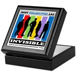 Most Disabilities Are Invisible Keepsake Box