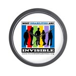 Most Disabilities Are Invisible Wall Clock