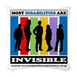 Most Disabilities Are Invisibl Woven Throw Pillow