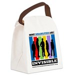 Most Disabilities Are Invisible Canvas Lunch Bag