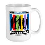 Most Disabilities Are Invisible Large Mug