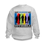 Most Disabilities Are Invisible Kids Sweatshirt