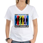 Most Disabilities Are Invis Women's V-Neck T-S