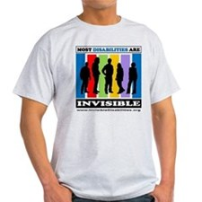 Most Disabilities Are Invisible Light T-Shirt