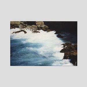 Aruba Rocks and Ocean Rectangle Magnet