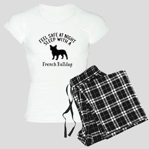 Sleep With French bull Dog Women's Light Pajamas