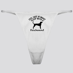 Sleep With Foxhound Dog Designs Classic Thong
