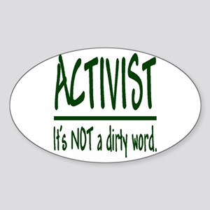 """""""The 'A'"""" word"""" Oval Sticker"""
