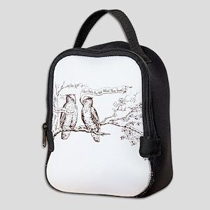 Twin Peaks Owls Neoprene Lunch Bag