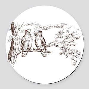 Twin Peaks Owls Round Car Magnet