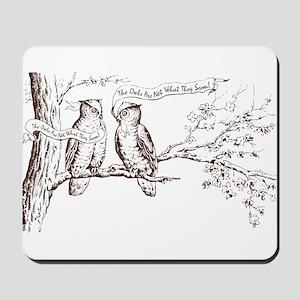 Twin Peaks Owls Mousepad